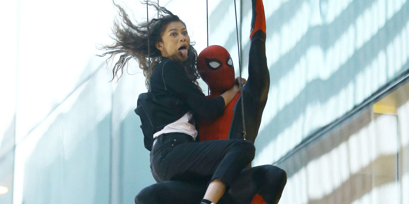 spider-man: far from home reveals first look at new spidey suit